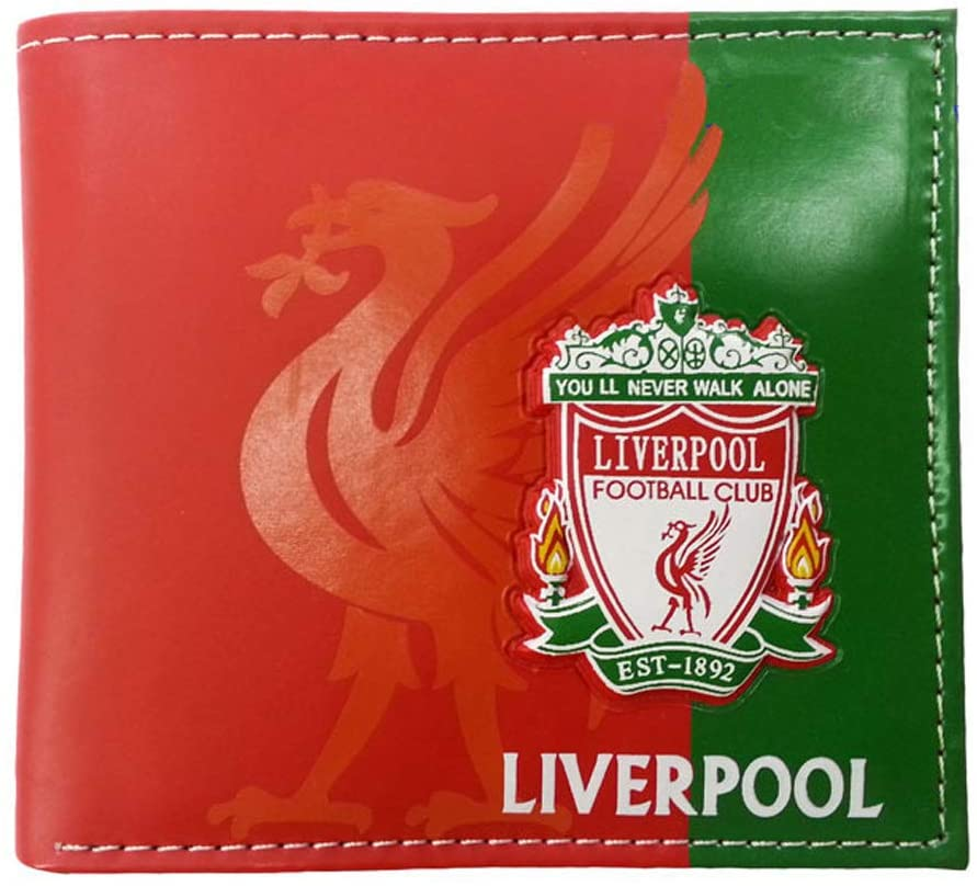 Football Club Wallet Soccer Team Logo Printed Wallet Unisex PU Leather Wallets for Football Fans (liverpool, 4.33