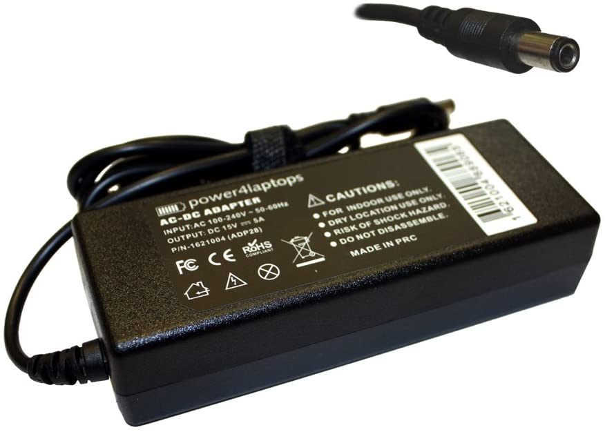 Power4Laptops AC Adapter Laptop Charger Power Supply for Toshiba Portege M400-60, Toshiba Portege M400-80, Toshiba Portege M400-EZ5031, Toshiba Portege M400-S4031, Toshiba Portege M400-S4032