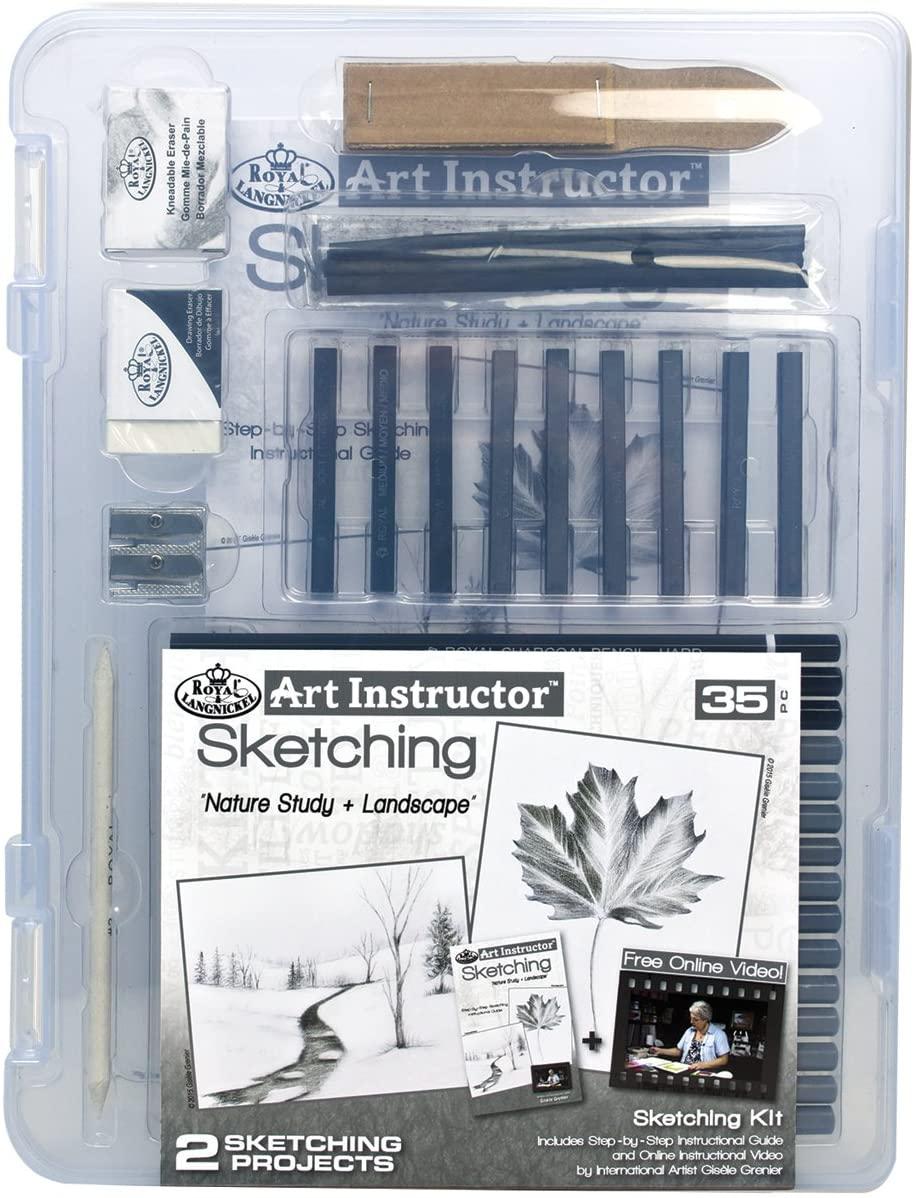 ROYAL BRUSH AIS-SKT3105 Instructor Sketching Clearview Art Set