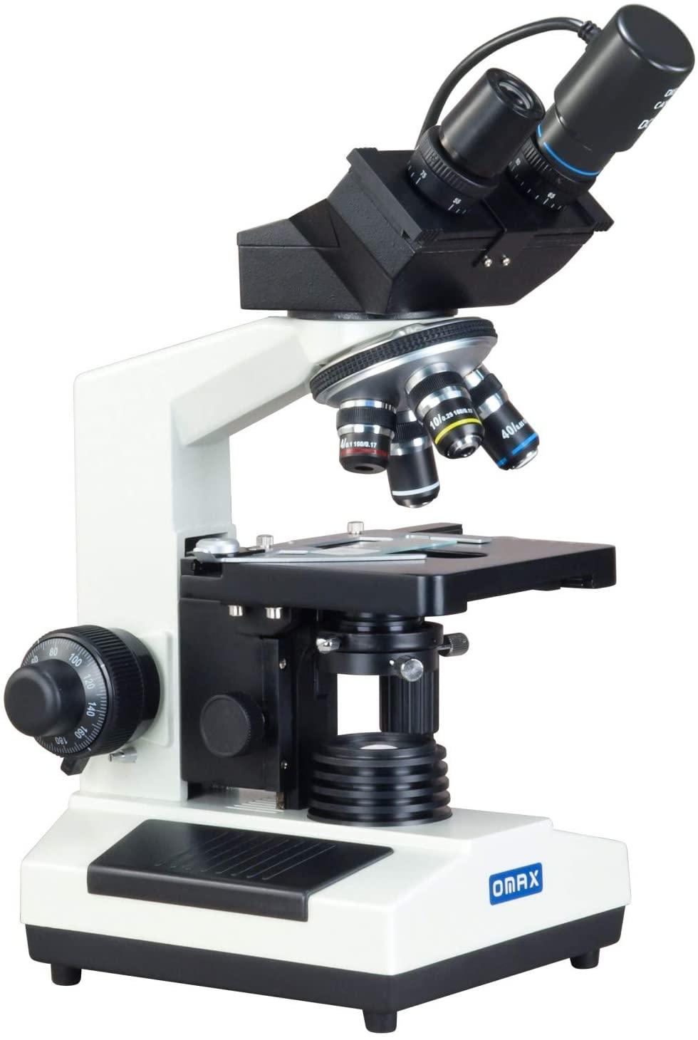 OMAX 40X-1000X Compound Binocular Microscope w Darkfield Condenser+USB Digital Camera