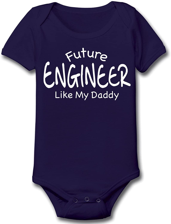 Future Engineer Like Daddy Baby Body Suiy Humor One Piece