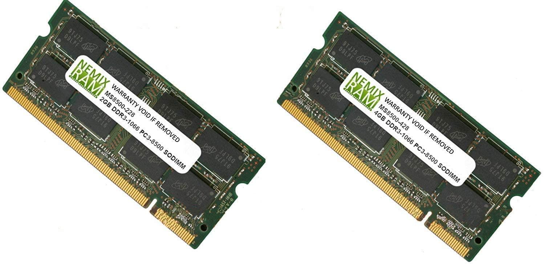 Nemix Ram Compatible Memory for Apple iMac 9,1 (24-inch Early 2009) 6.0GB 2GB+4GB DDR3 1066Mhz PC3 8500 SODIMM Ram Memory Module Upgrade Kit