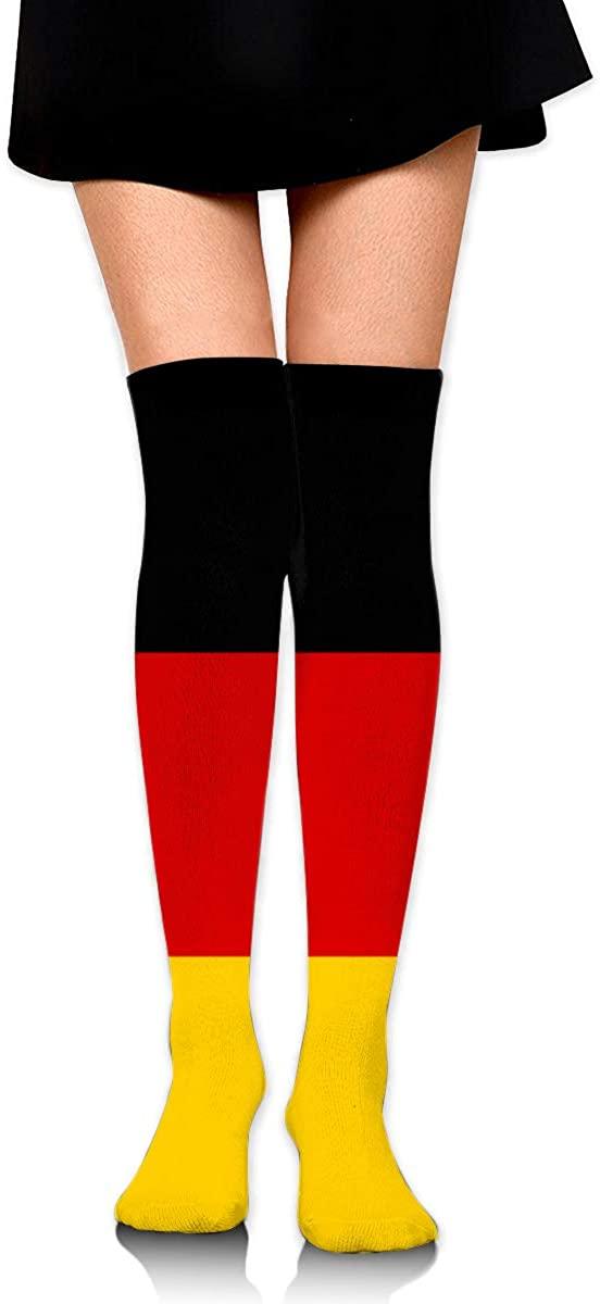 Knee High Socks Flag Of Germany Women's Athletic Over Thigh Long Stockings