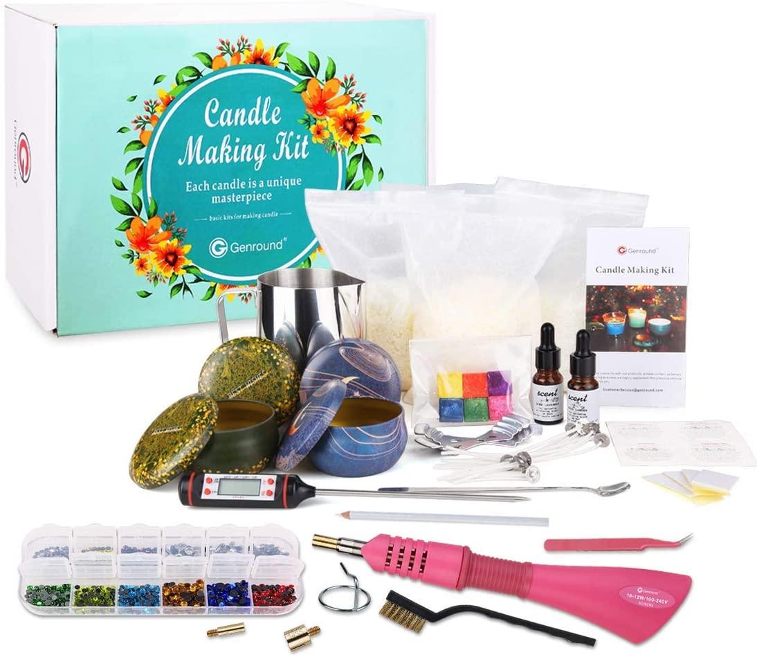 Genround Hotfix applicator+Candles DIY kit to DIY Candle