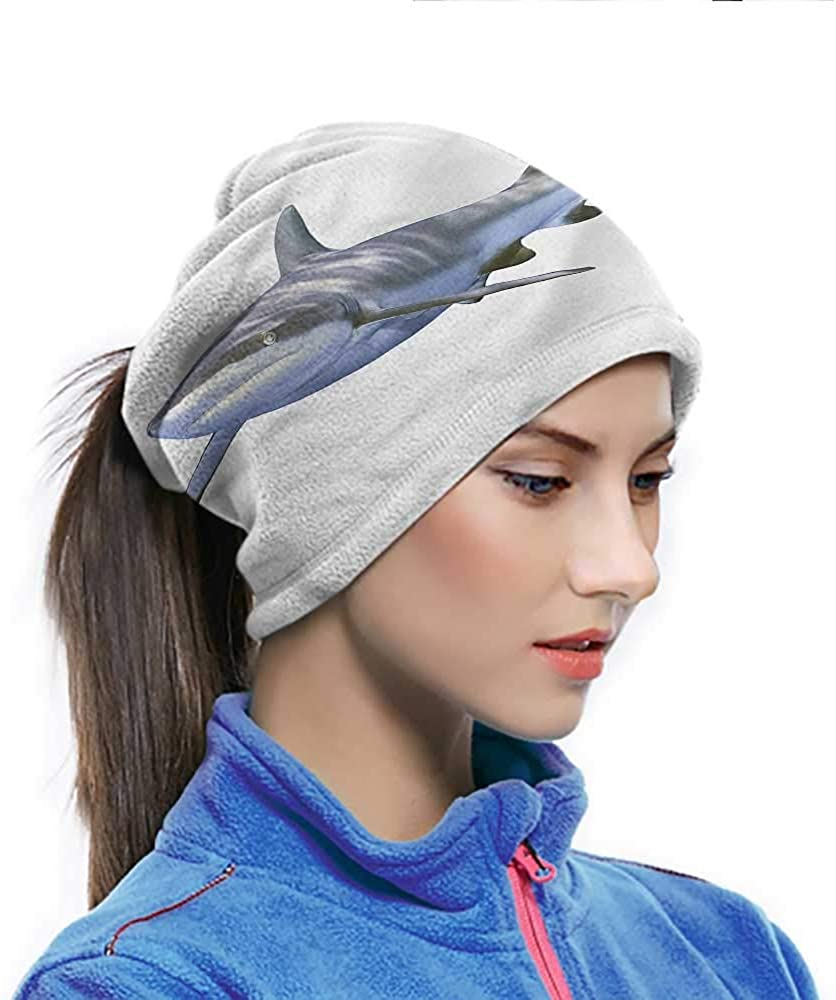 Headwrap Shark, Large Reef Futuristic Art Cooling Sunblock Face Scarf Can be used as Cosplay 10 x 11.6 Inch