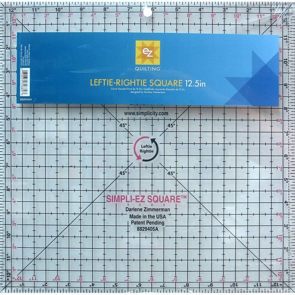 Simpli-EZ 8829405 Square Sewing and Quilting Tool, 12-1/2-Inch by 12-1/2-Inch