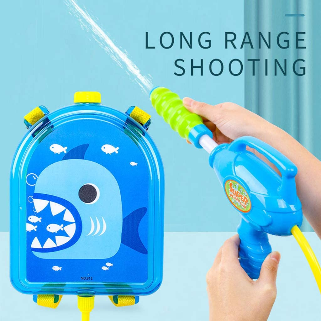 Backpack Water Gun Water Soaker Squirt Fight Gun for Kids Adults Summer Play Toys Pull Type Water Shooter Long ranged Pump Outdoor Pool Bathing Rafting Beach Games