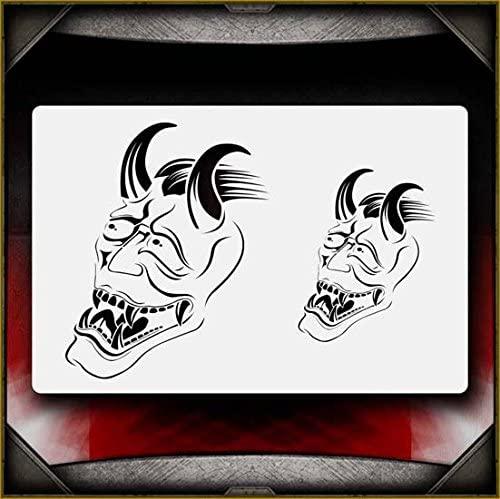 Hannya Masks 2 AirSick Airbrush Stencil Template
