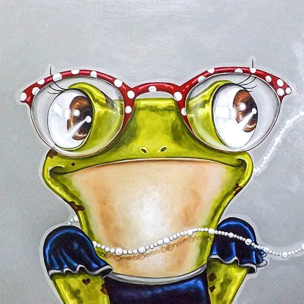 WAYATI DIY 5D Diamond Painting Kits Full Round Drill Arts Craft Cross Stitch Diamond Embroidery Glasses Frog Mosaic for Home Wall Art Kids Decor Decorative Gift 12x16 in