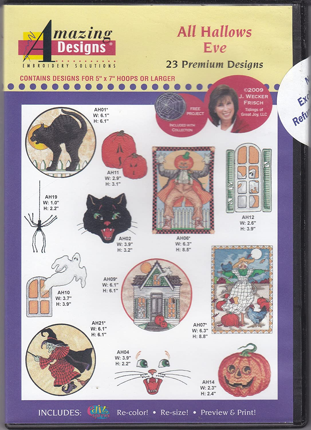Amazing Designs All Hallows Eve Machine Embroidery Designs
