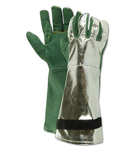Magid Glove & Safety 6700ALTSVE WeldPro 6700ALSVE Aluminized Back Welders Gloves, XL (Pack of 12)