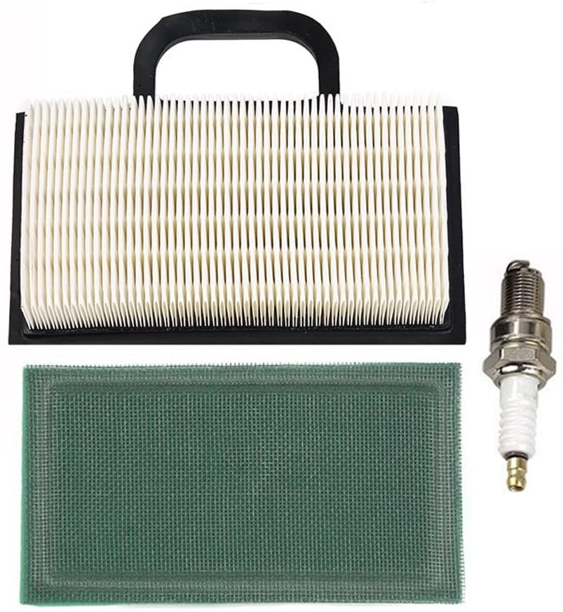 HIFROM 499486 499476S 698754 Air Filter with 273638 273638S Pre Filter Spark Plug Tune-Up Kit Replacement for 18-26 HP Engines