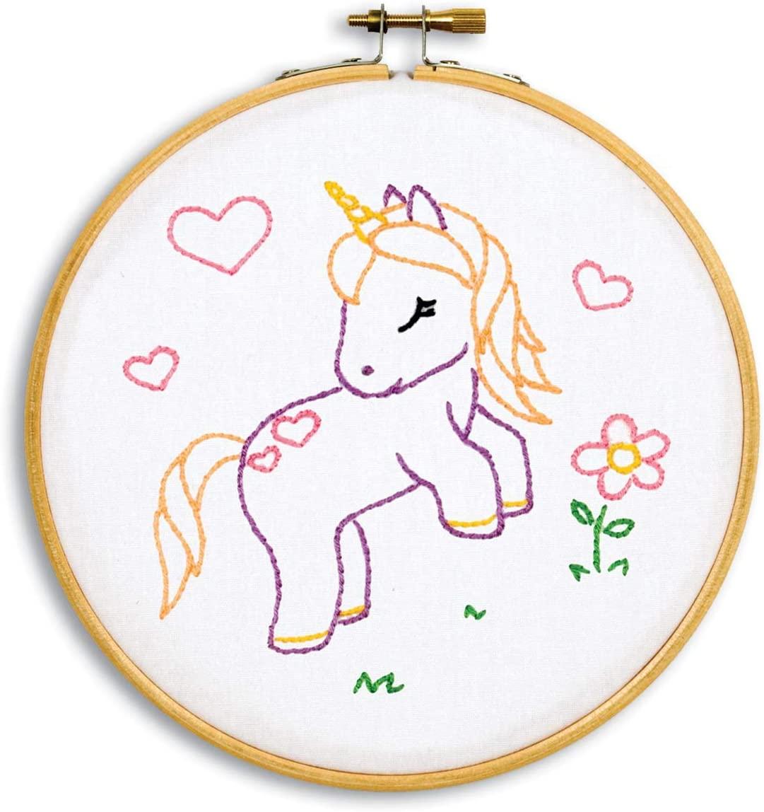 Jack Dempsey Needle Art Baby Unicorn Decorative Embroidery, White
