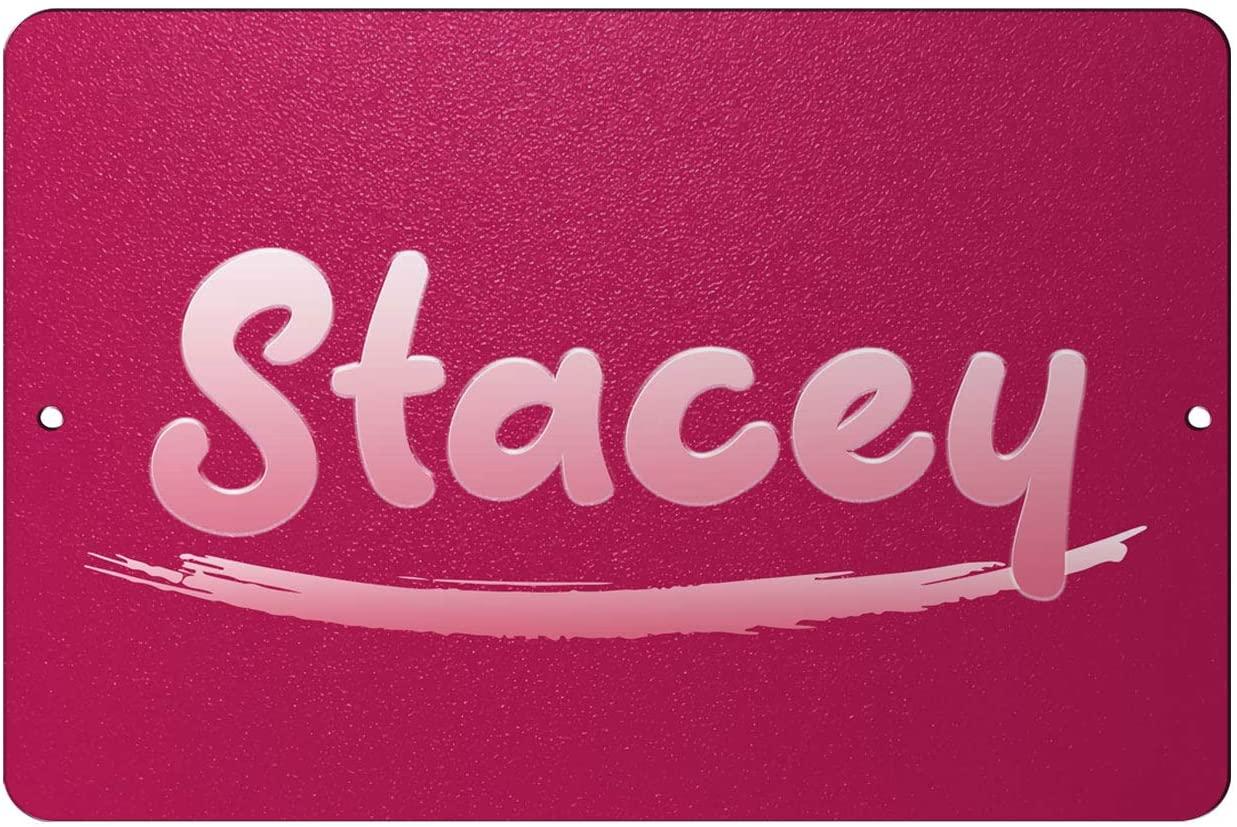 Makoroni - Stacey Female Name 12x18 inc Aluminum Decorative Wall Street Sign