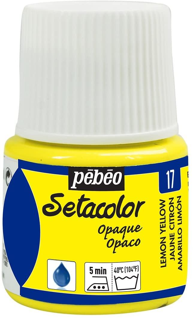 PEBEO Setacolor Opaque Fabric Paint 45-Milliliter Bottle, Lemon Yellow