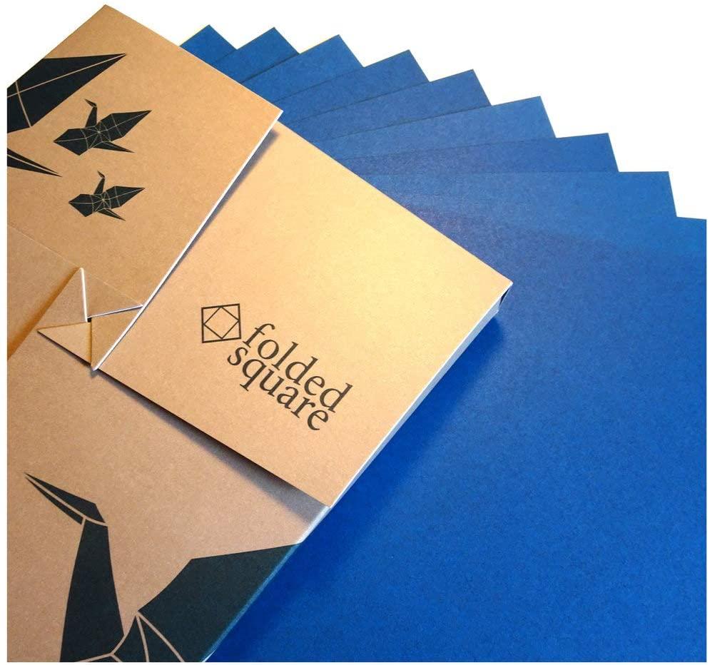 "Blue Origami Paper   100 Sheets, 6"" Square   Pantone 301"