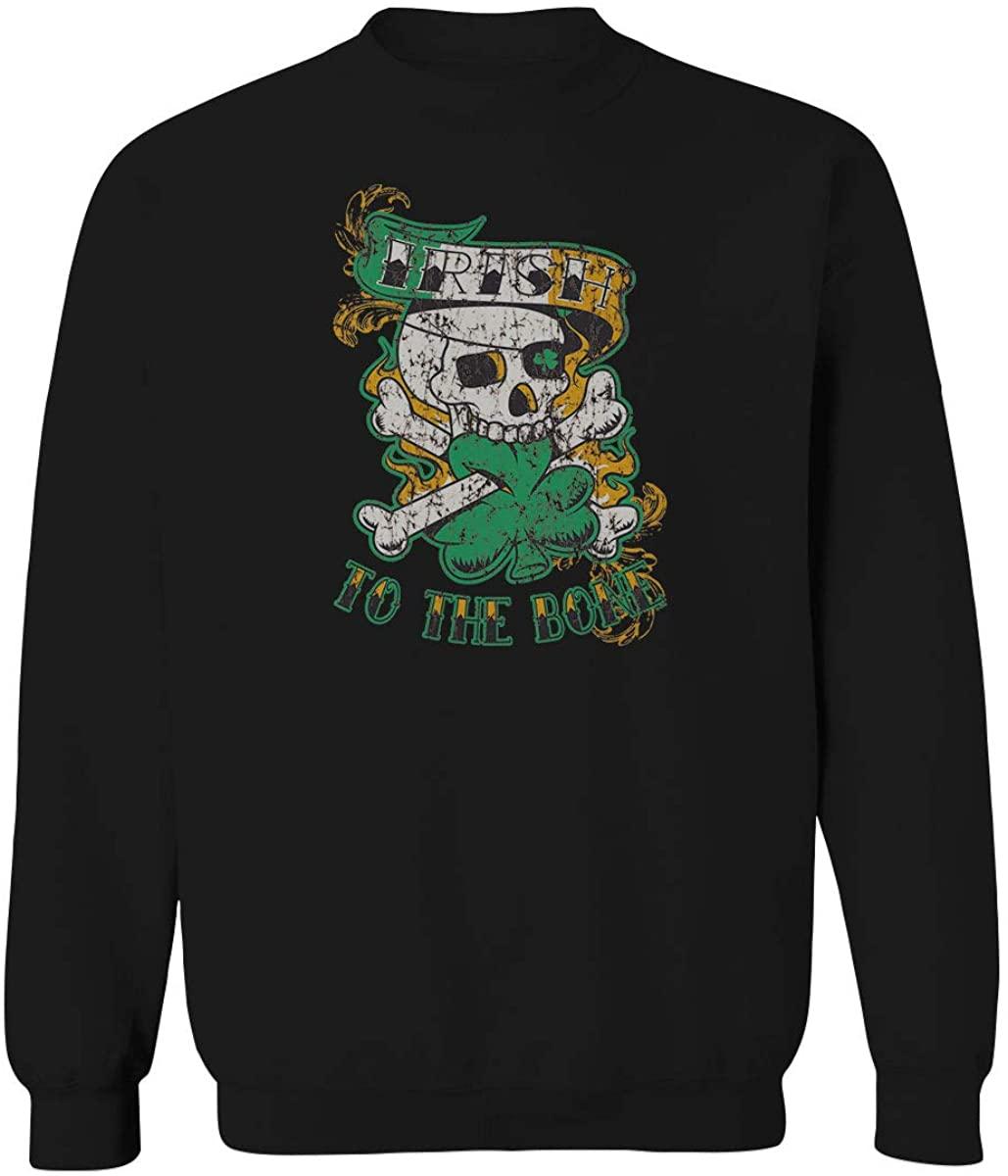 Irish to The Bone St Patricks Day Shamrock Funny Clover Men's Crewneck Sweatshirt