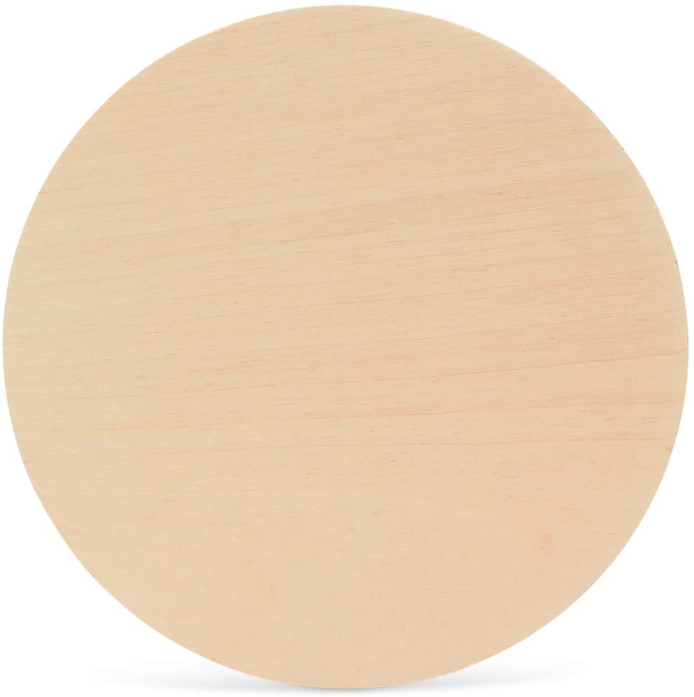 10 Inch Wooden Circles 1/4 Inch Thick, Package of 1, Unfinished Baltic Birch Wood, by Woodpeckers