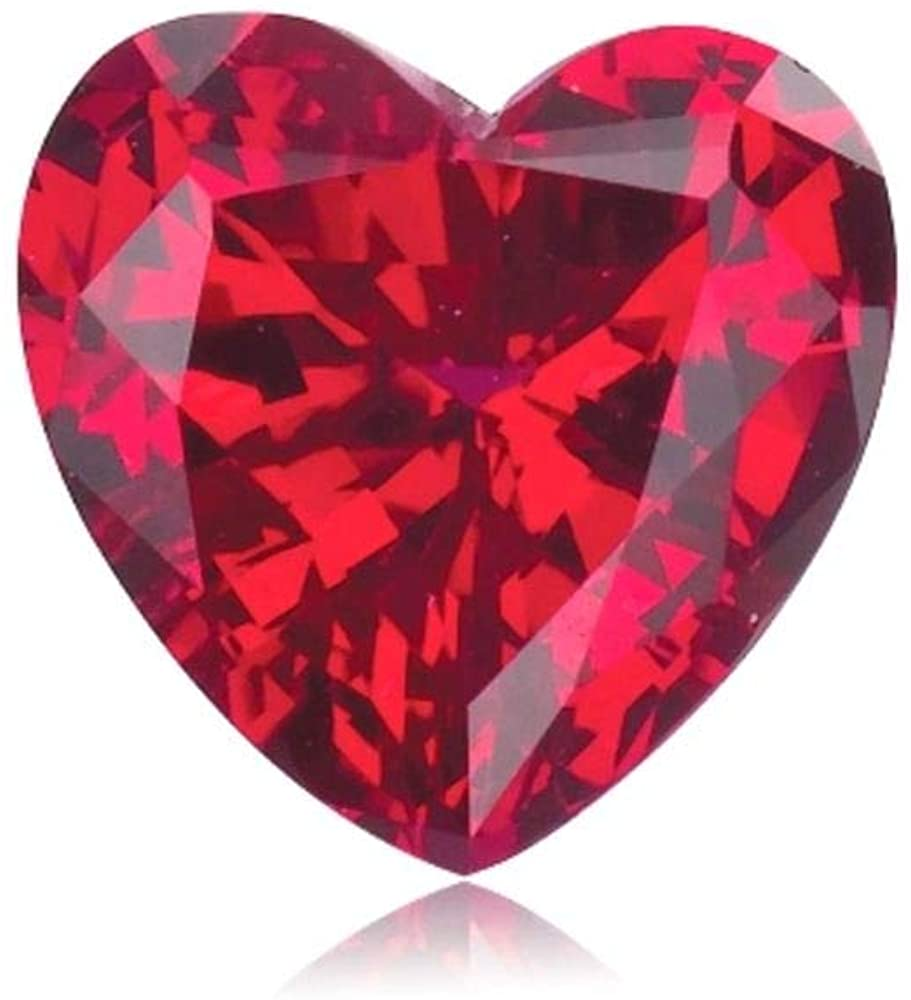Mysticdrop Synthetic Heart-Shaped Swiss Rough Corundum Ruby from 3MM-10MM