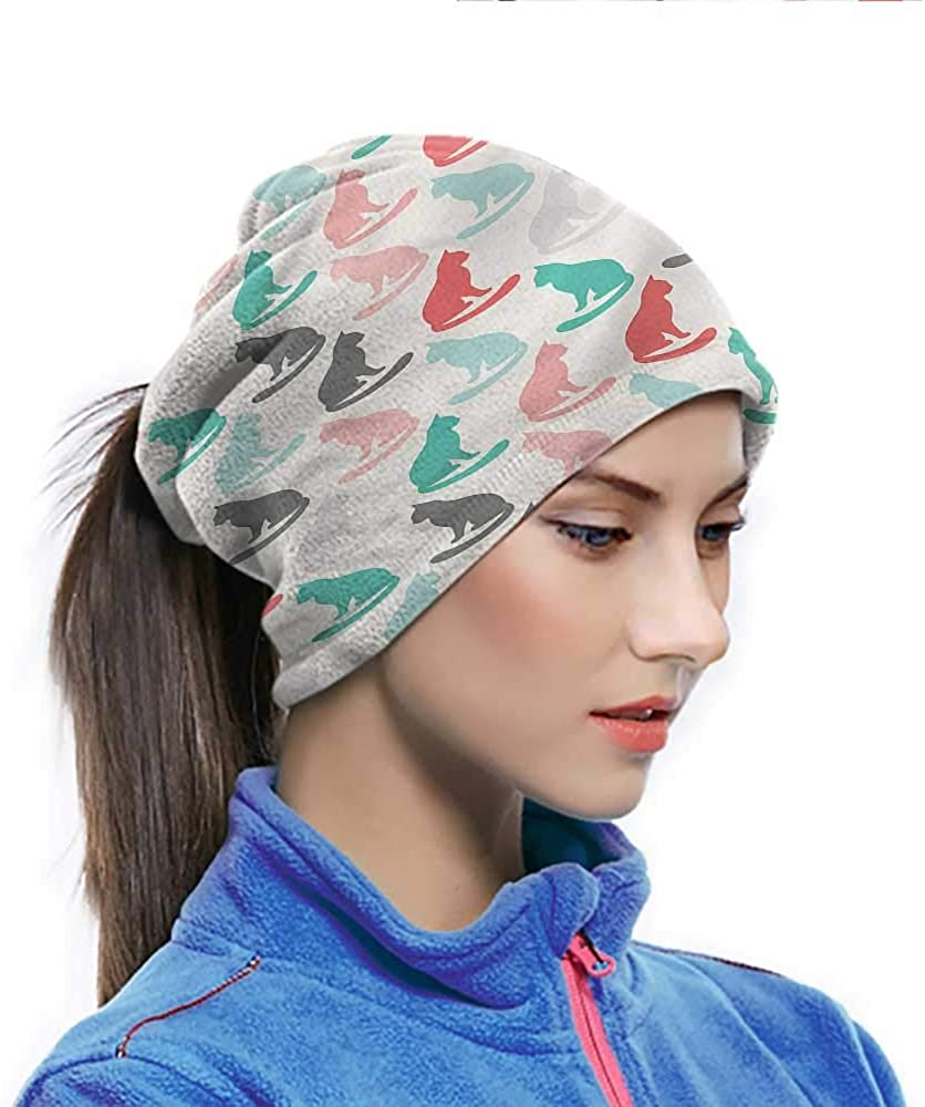 Neck Gaiter Cat, Colorful Sitting Silhouettes Colorful Pattern Neck Gaiter Easily Washed and Dried 10 x 11.6 Inch