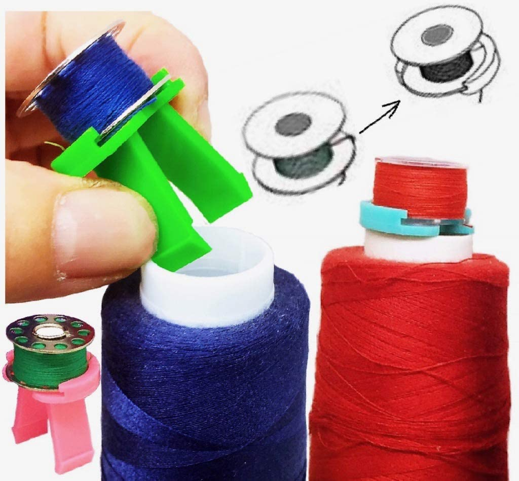 PeavyTailor 20pcs Bobbin Buddies Bobbin Holder Clamp for Embroidery Quilting Brother Sewing Machine Thread Rack #8