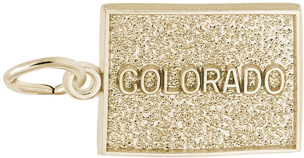 10k Yellow Gold Colorado Charm, Charms for Bracelets and Necklaces