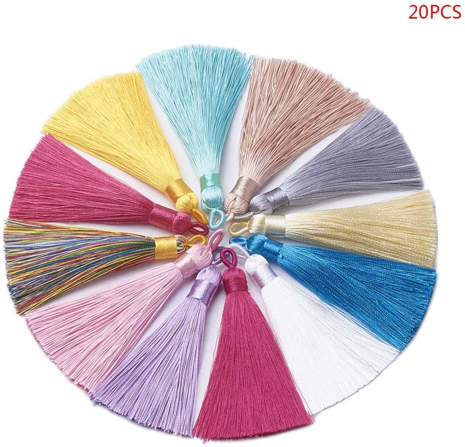 minansostey Color Tassel Pendant Assorted Colors Long Tassel Handcraft Jewelry Accessories
