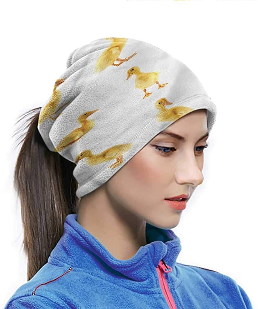 Headwrap Duckies, Fluffy Baby Ducks Posing Women Men Face Scarf for Yoga Hiking Riding 10 x 11.6 Inch