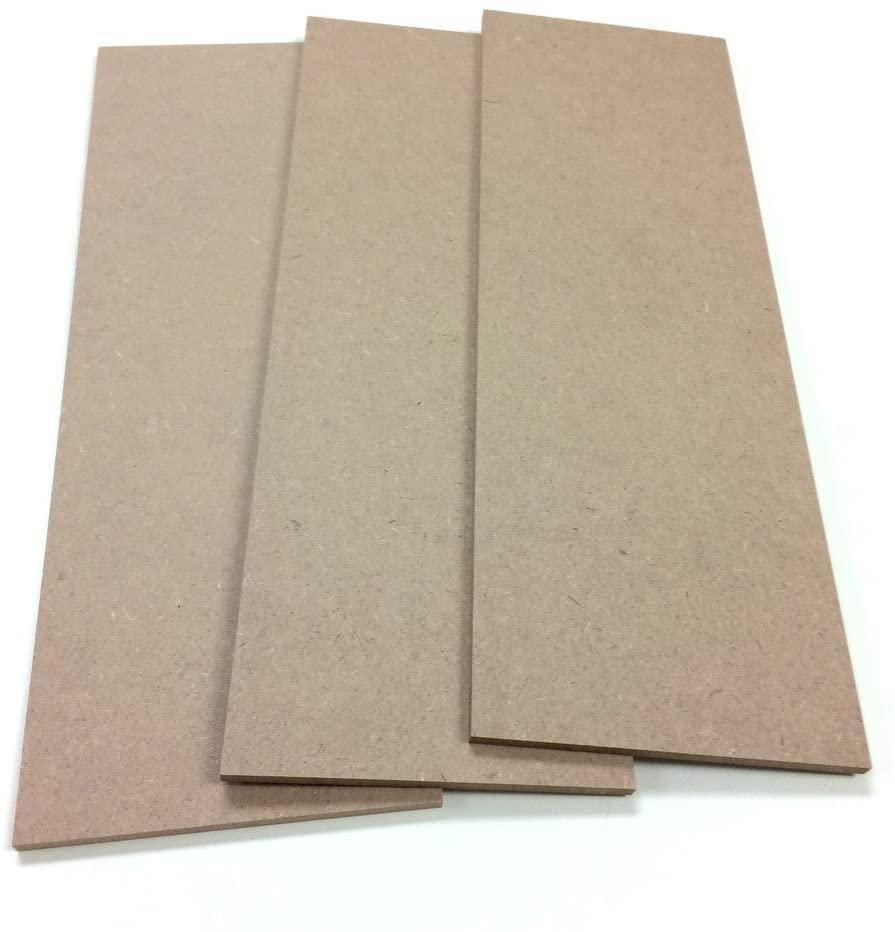 SJT ENTERPRISES, INC. MDF Wood Craft Plaque Sign 5 x 15-inches, 3-Pack (SJT00070)