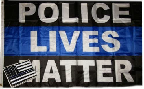 Wholesale Combo 3x5 Police Lives Matter Thin Blue Line &, USA Memorial Lapel Pin BEST material PREMIUM Vivid Color and UV Fade Resistant