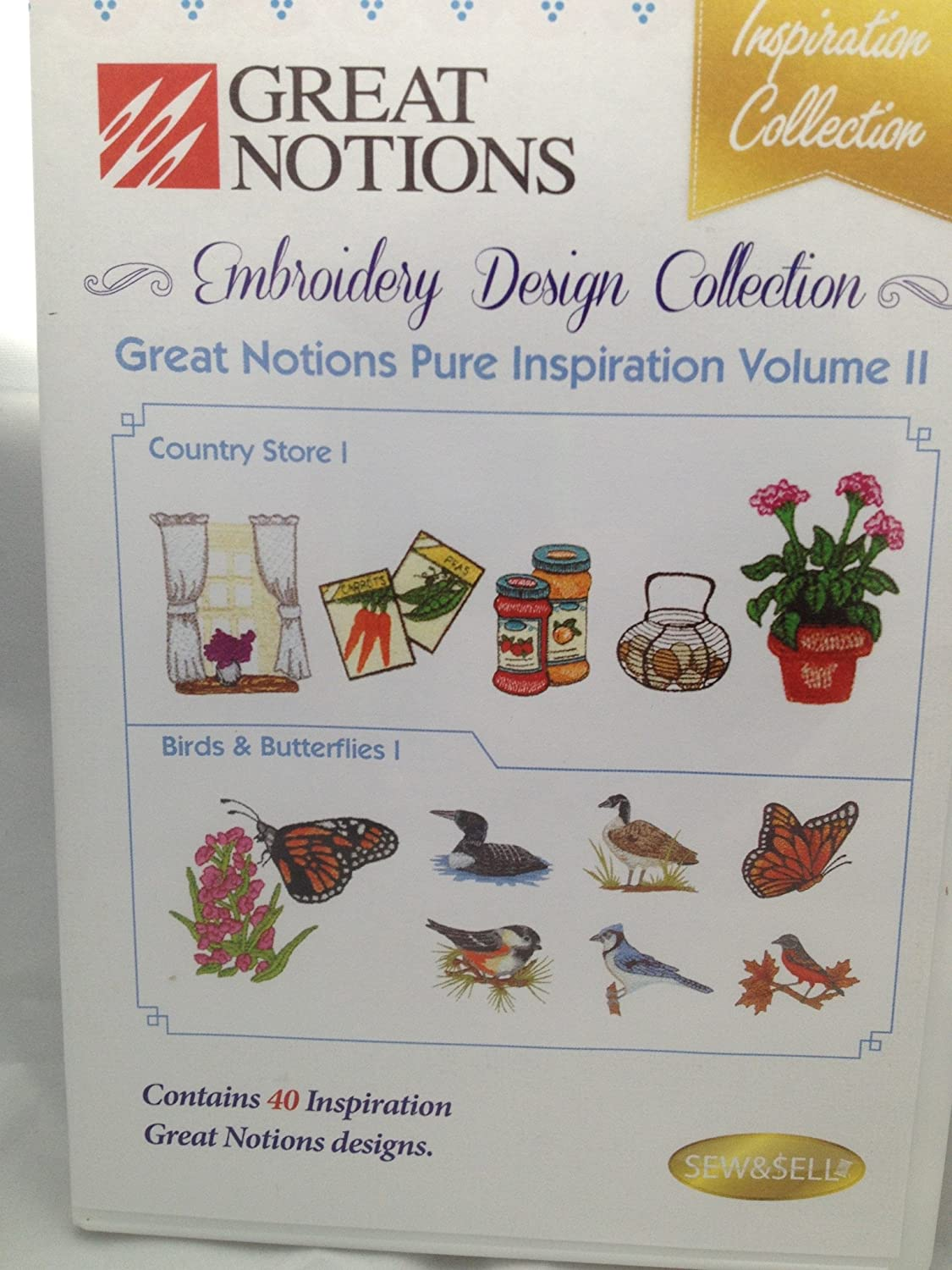 Great Notions Pure Inspiration Volume II - 40 machine embroidery designs
