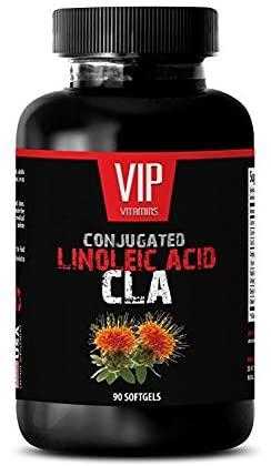 Fat Burners for Men cla - CONJUGATED LINOLEIC Acid (Safflower Oil) - CLA 1250 Mg - Natural conjugated linoleic Acid Source - 1 Bottle 90 Softgels