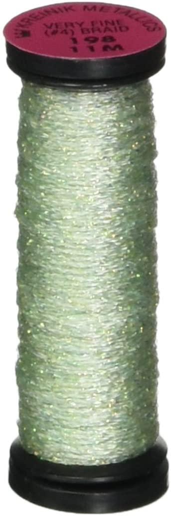 Kreinik No.4 Very Fine Metallic Craft Braid, 12-Yard, Pale Green