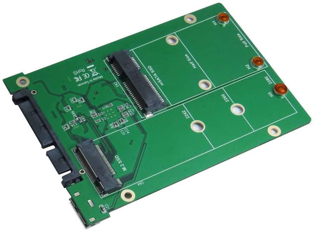 USB 3.1 Micro B and SATA III to mSATA and M.2 SSD Adapter