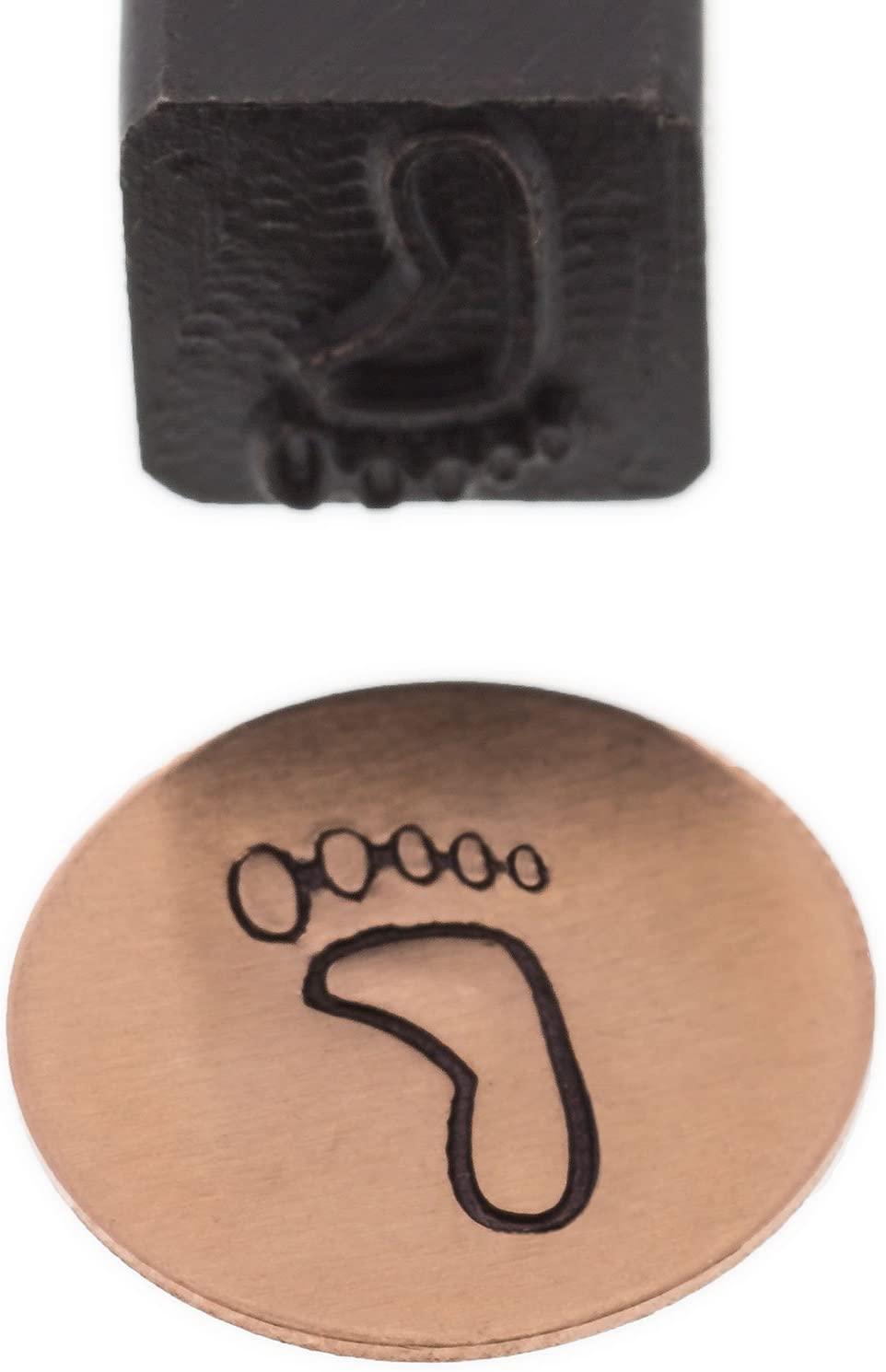 Elite Jumbo Design Stamp, 10 Millimeters, Right Foot | PUN-225.21
