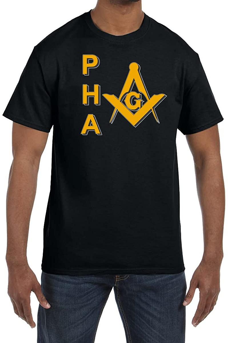 Prince Hall PHA Square & Compass Masonic Men's Crewneck T-Shirt