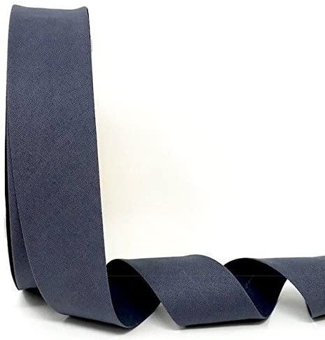 Byetsa Dark Grey 30mm Stretch Bias Tape on a 25m Roll (3% Elastine/97% Cotton)