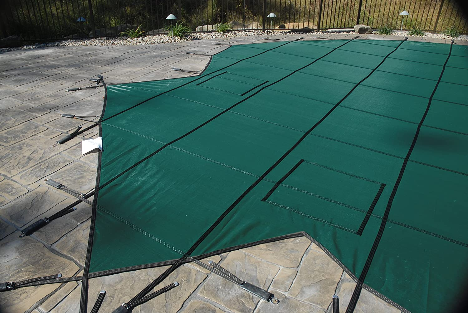 GLI ProMesh 14 FT X 28 FT Rectangular Safety Cover System, Green