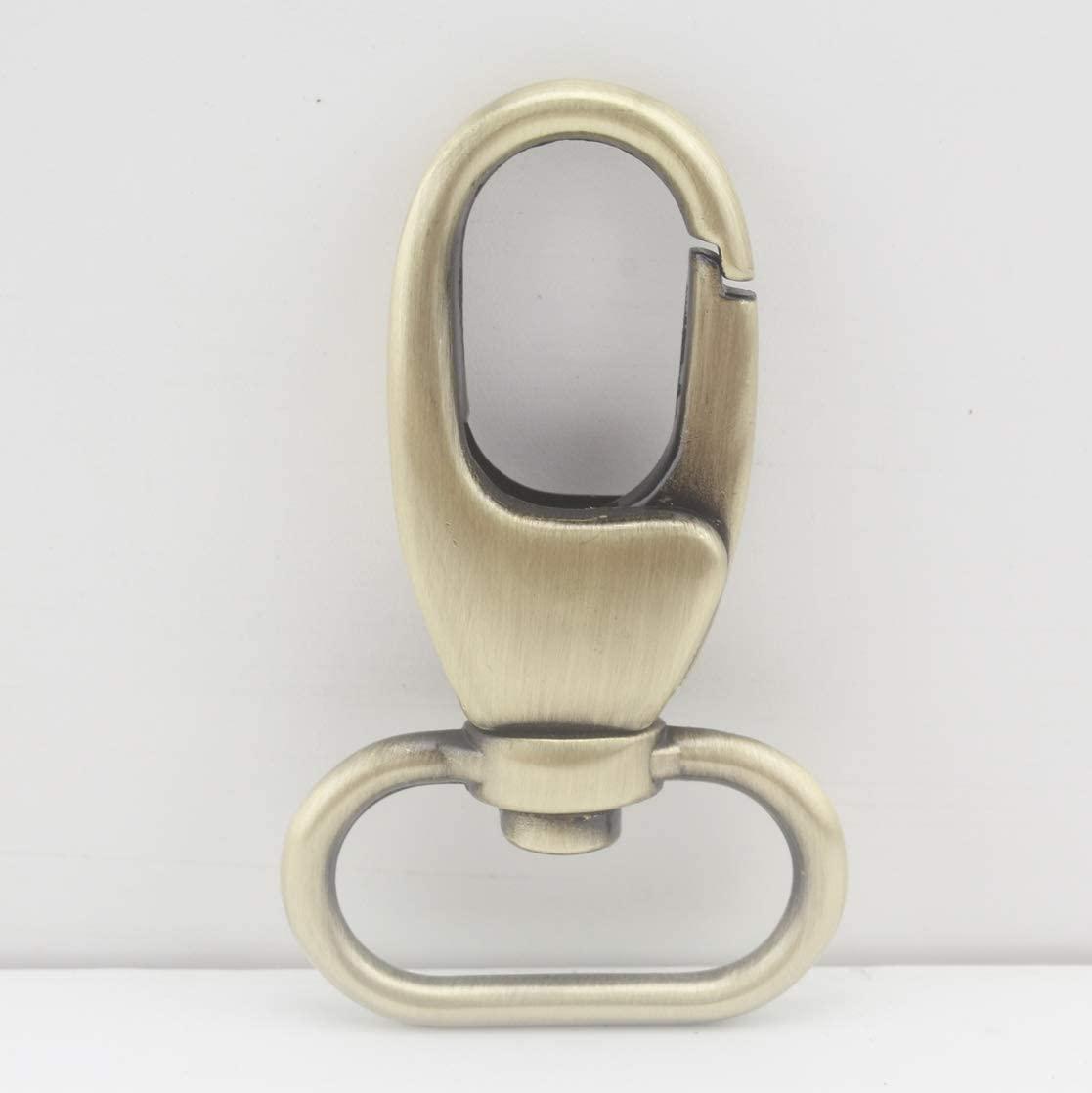 Anti Bronze, 1 inch / 25mm Zinc Alloy Purse Hook Push gate snap Hook for Strap Handbag Purse Bag Key Ring DIY Craft, 6 Pieces per lot, AC110