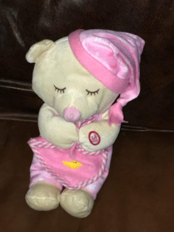 Lords Prayer Praying Pink Bear Plush