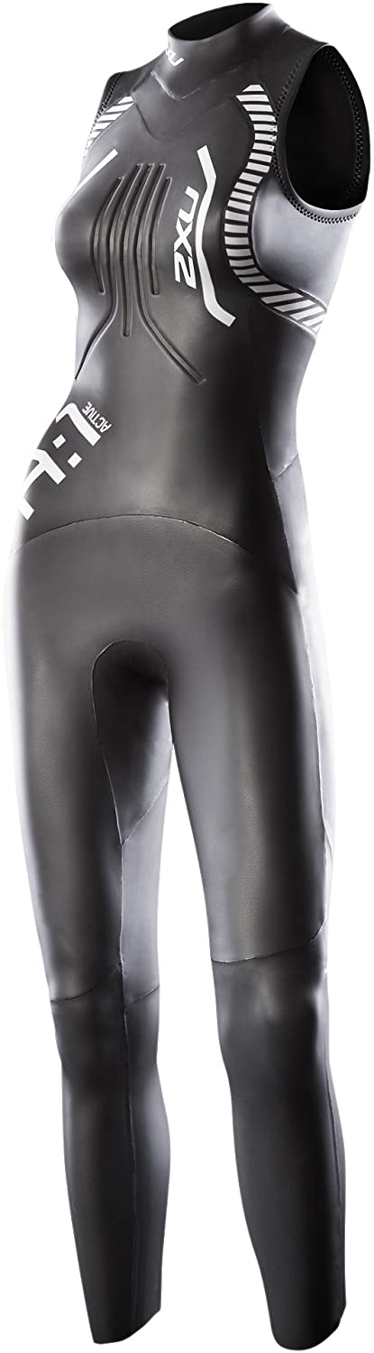 2XU Women's A:1 Active Sleeveless Wetsuit, X-Small, Black/White