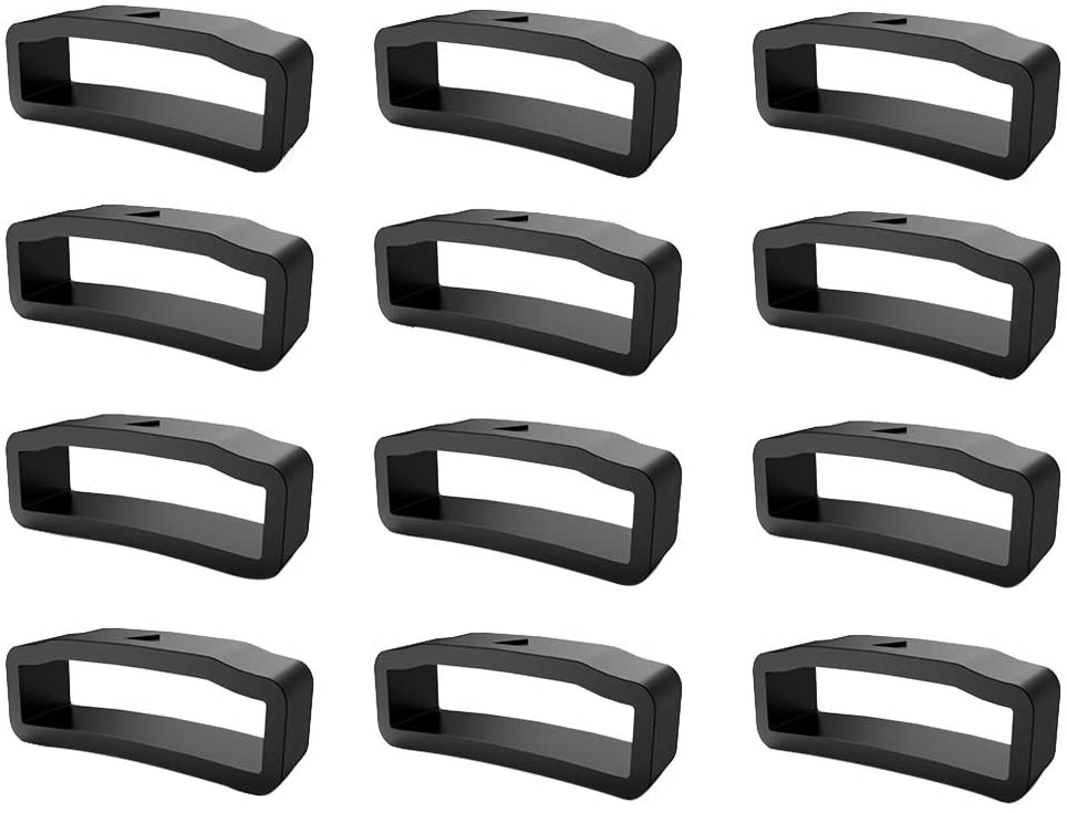 Fastener Ring Compatible with Garmin Fenix 5X/5X Plus/Fenix 3/3HR, Pack of 12 Silicone Bands Connector Keepers Fastener Ring Holders Loop Replacement for Fenix 5X/5X Plus/Fenix 3/Fenix 3HR (12 Pack)