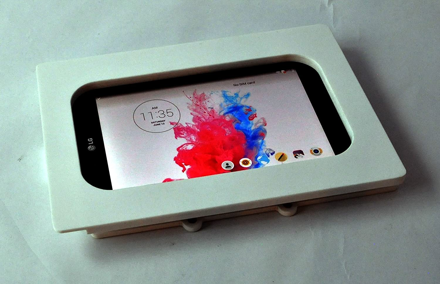 TABcare Compatible LG G pad 8 White Wall Mount Acrylic Security Enclosure for POS, Kiosk, Store Display