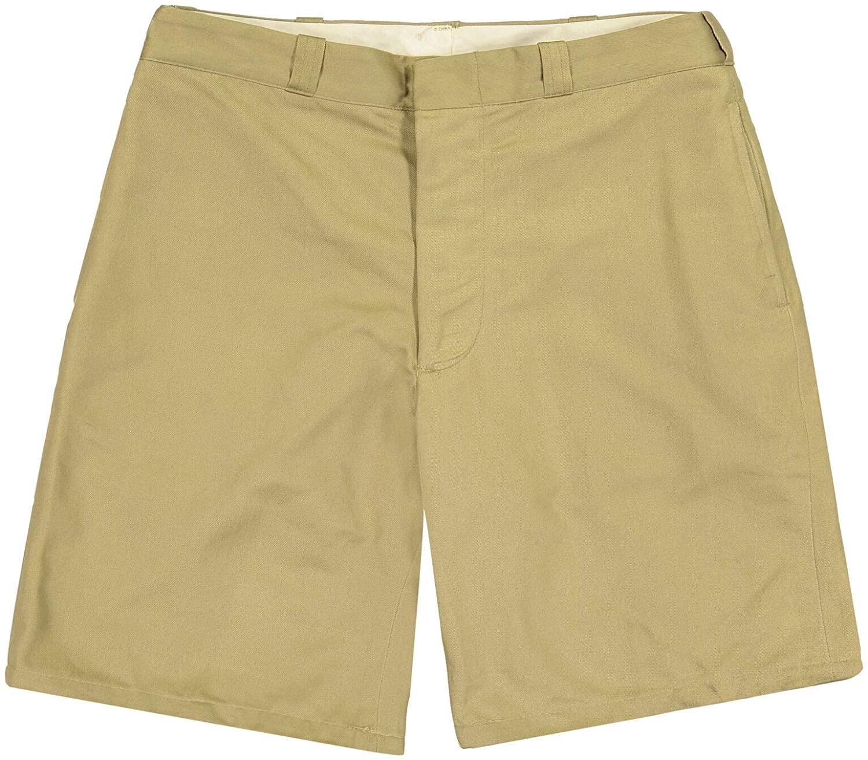 Vintage Chino Genuine GI US Military Issue Cotton Twill Shorts, Khaki