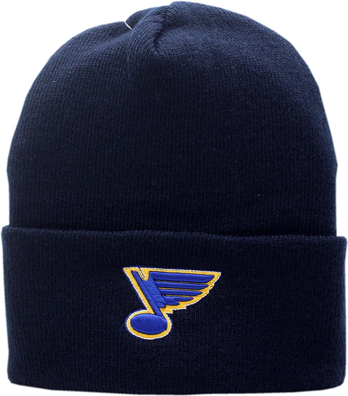 American Needle St. Louis Blues Knit Hat Cuffed Logo Block 11786