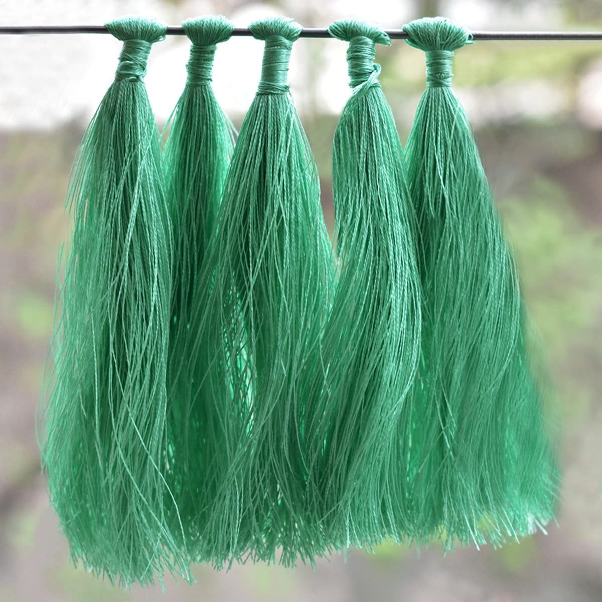 Tassels for Craft,Earring Making and Decoration Purpose (10 Pieces,Sea Green Color)