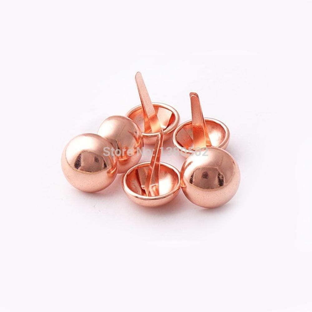 Zereff 30Pcs/Lot Rose Gold Color Large Brads Crafts Scrapbooking Handmade Decorative Brad Pin