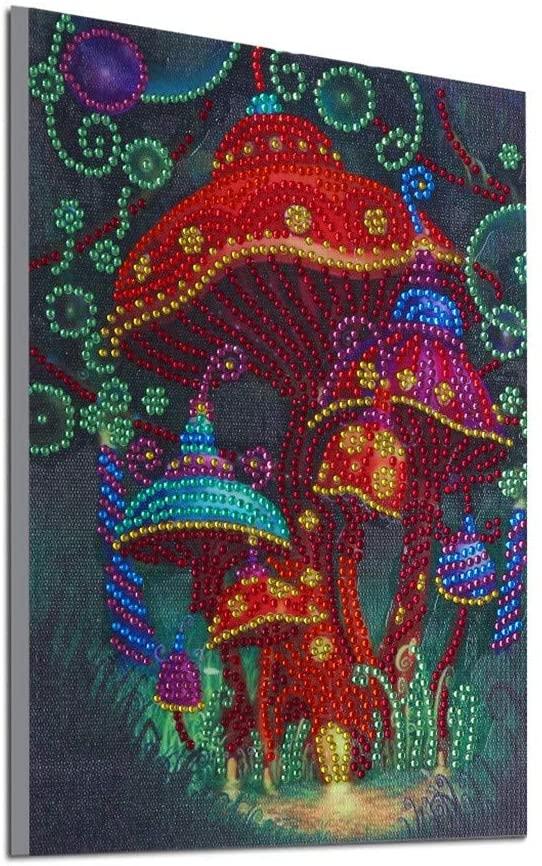 Honestyivan Special Shape Diamond DIY 5D Diamond Painting Kit Colorful Flower Small Tree Rhinestone Crystal Embroidery Art Home Wall Decor for Living Room Bedroom Office