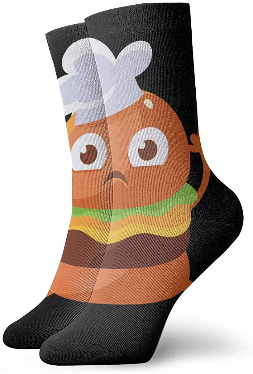Burger Chef Short Crew Socks Athletic Tube Socks For Men Women