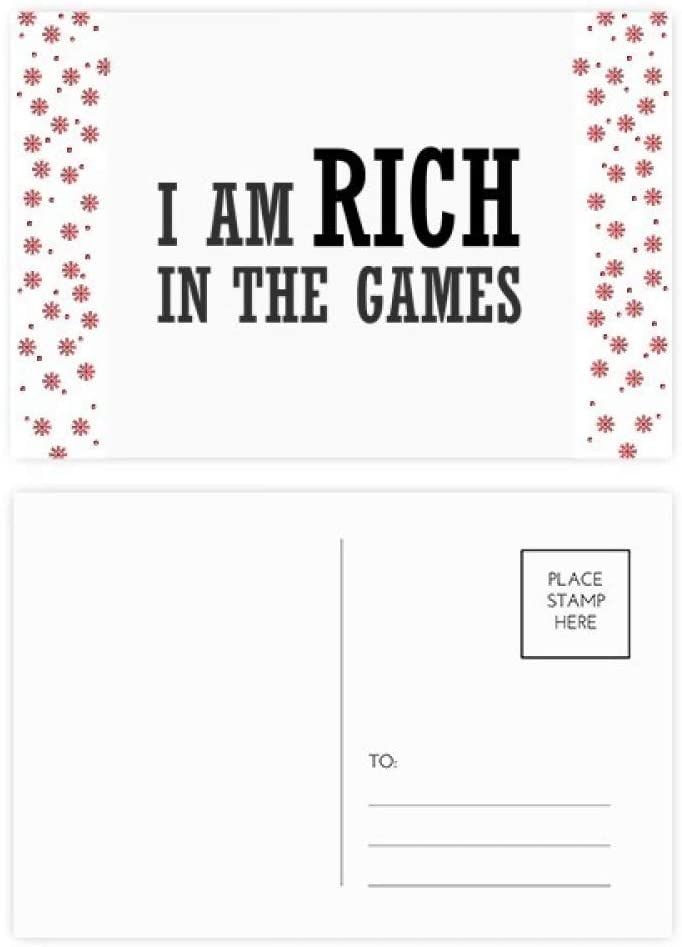I Am Rich In The Games Christmas Christmas Flower Celebration Postcard Blessing Mailing Card